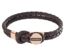 Armband, Leder, braun, 2-reihig, EGS2177221