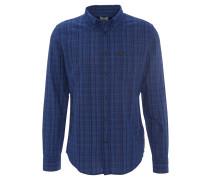 Freizeithemd, Brusttasche, Baumwolle, Blau