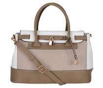 "Handtasche ""Nathalie"", dreifarbig, Leder-Optik, Braun"