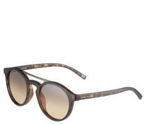 Sonnenbrille, matte Havanna-Optik, Piloten-Stil