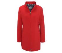 Mantel, Material-Mix, elastisch, Stehkragen, uni