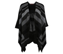Poncho, offene Front, Knopf in Hornoptik