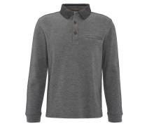Sweatshirt, Polokragen, geometrisches Muster, Grau