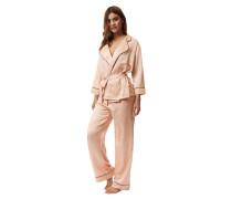 Schlafanzug, Kimono-Look, Reverskragen