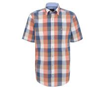Freizeithemd, Kurzarm, Brusttasche, Button-Down-Kragen, Orange