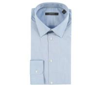 Businesshemd, Kent-Kragen, Baumwolle, Blau