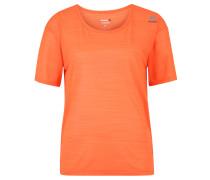 Fitness-Shirt, Melange, atmungsaktiv, für Damen, Orange