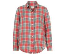 Hemdbluse, Karo-Design, verdeckte Knopfleiste hinten, Rot