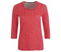 Shirt, 3/4 Ärmel, Allover-Print, Rot