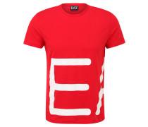 T-Shirt, Baumwolle, meliert, Logo-Print