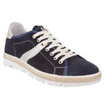 "Sneaker ""LYKKE"", Leder, Zopf-Applikation, Blau"