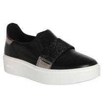 Business-Schuhe, Leder, Durchgehendes Plateau, Schwarz