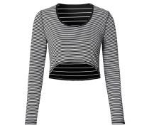"""Umstands-Langarmshirt """"Nova"""", Streifen-Design, Schwarz"""