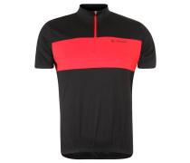 Fahrrad-Shirt, Stecktaschen, LSF 50+, Slim Fit, für Herren, Schwarz