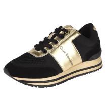 Sneaker, Materialmix, Mesh, Metallic, Rindleder, Gold