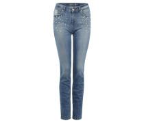 "Jeans ""Alexa"", Slim Fit, Nieten, Waschung"