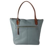 """Shopper """"Fiona"""", genarbtes Kalbsleder, Schlüssel-Anhänger, Blau"""