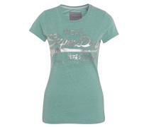 T-Shirt, meliert, 3D-Logo-Print
