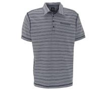 Polo-Shirt, gestreift, geripptes Material, Grau