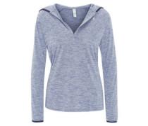 Sweatshirt, meliert, Kapuze, V-Ausschnitt, HeatGear, für Damen
