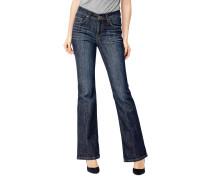 "Bootcut-Jeans ""Luci"", Used-Look, Blau"