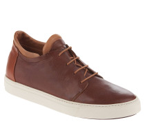 Sneaker, Kalbsleder, Lagen-Look, Braun
