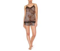 Schlafanzug, Leoparden-Print, für Damen
