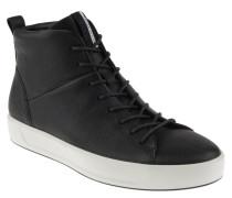 Sneaker, hoher Schaft, Leder-Obermaterial, Innensohle aus Leder, Schwarz