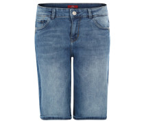 Jeans-Bermuda, Relaxed Fit, 5-Pocket-Style, Blau
