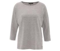 Pullover, Rundhals-Ausschnitt, Streifen-Struktur, Grau