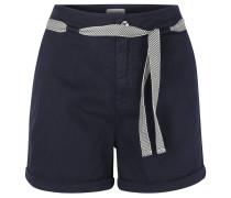 Shorts, Baumwollmischung, Bindegürtel, Blau