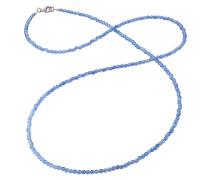 Kette Achat blau Silber 80cm