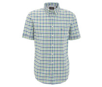 Freizeithemd, Comfort Fit, Button-Down-Kragen, Brusttasche, Grün