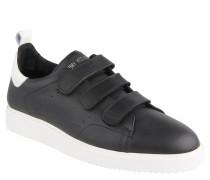 Sneaker, Leder, Klettverschluss, Kontrastsohle