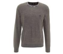 Pullover, meliert, Strick, Rundhals