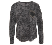 Longsleeve, Camouflage, Perlen-Details, Grau