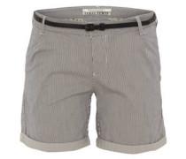 Chino-Shorts, gekrempelter Saum, Ledergürtel