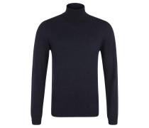 Pullover, Feinstrick, Rollkragen, Schurwolle, Blau