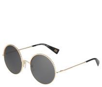 Sonnenbrille, gold-farben, Flecht-Optik