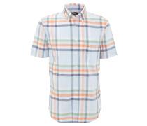Freizeithemd, Comfort Fit, Button-Down-Kragen, kariert, Baumwolle, Orange