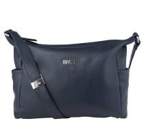 Nola 3, blue, ladies' handbag grained, Blau