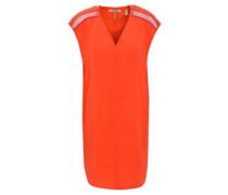 Kleid, gerader Schnitt, V-Ausschnitt, Teilungsnaht