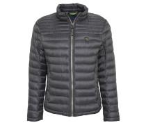 Jacke, Stepp-Design, Punkte-Muster, Grau
