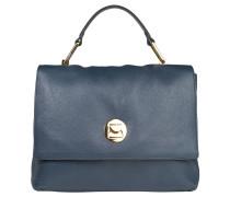 """Handtasche """" Yao Liya"""", Rindsleder, Schultergurt, Blau"""