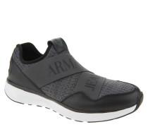 Sneaker, meliert, elastische Riemen, Grau