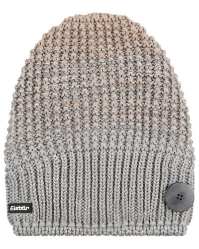 """Mütze """"Fabienne"""", Strick, Zierknopf, Fleece-Stirnseite"""