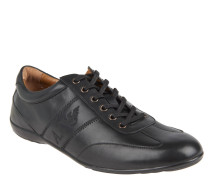 Schmaler Sneaker, glänzende Oberfläche, für Herren, Schwarz