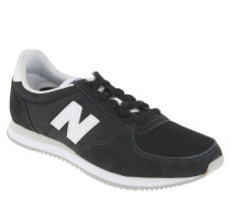 "Sneaker ""U220RD"", einfarbiges Design, Materialmix"