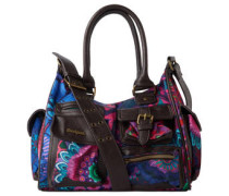"""Handtasche """"London Olympia"""", florales Muster, Strass"""