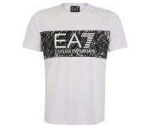 T-Shirt, Baumwolle, Logo-Print, für Herren, Weiß